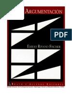 libro De la argumentación (Emilio Rivano)