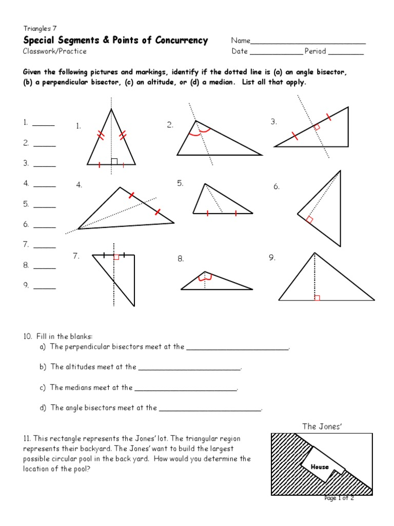 Workbooks identify coins worksheets : Medians Of A Triangle Worksheet writing equations of lines worksheets