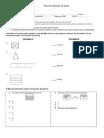 Prueba de matemática fracciones