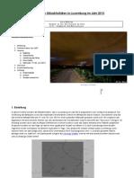 Analyse der Blitzaktivitäten in Luxemburg (2013)
