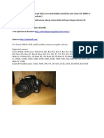 Canon EOS 1000D Sebagai Web Cam