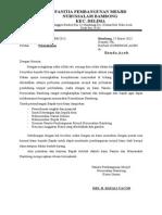 Surat Permohonan Dari Panitia Pembangunan