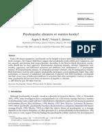 Psychopaths - Cheaters or Warrior-hawks
