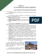 TEMA 13 LA ENERGÍA DE LOS RESIDUOS SÓLIDOS URBANOS