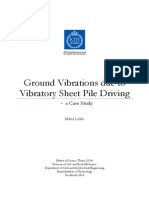 Ground Vibration Due to Vibratory Sheet Pile Driving