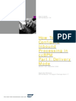 How to Configure Inbound Processing in Cross Component Business Process Management - Part 1 Delivery Mode (NW2004)
