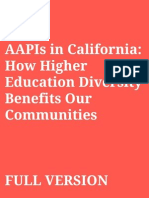 Asian Americans and Pacific Islanders in California:How Higher Education Diversity Benefits Our Communities (Full length)