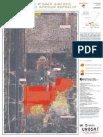 Satellite imagery of Bangui airport