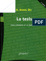 Daniel Dei La Tesis Como Orientarse en Su Elaboracion