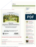 Huerta Orgánica Biointensiva CIESA _ Permacultura Libre