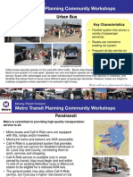 Metro public transit planning #3