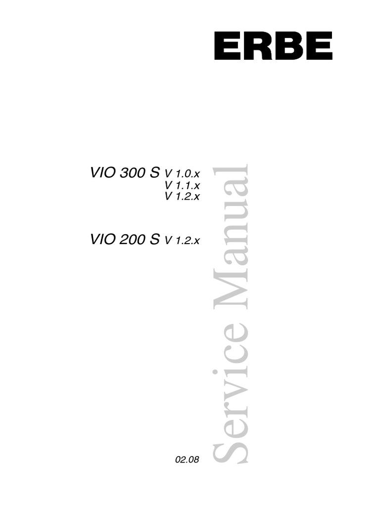 erbe vio300s service manual switch safety rh pt scribd com EGD with Erbe erbe vio apc 2 service manual