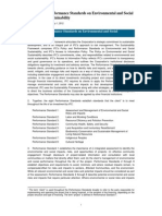 Performance Standards on Environmental and Social Sustainability - 2012 Edition