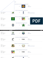 Icc Cricket World Cup 2015 Schedule Fixtures PDF