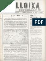 LLOIXA. Número 12, junio /juny 1982. Butlletí informatiu de Sant Joan. Boletín informativo de Sant Joan. Autor