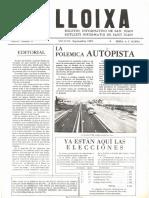 LLOIXA. Número 15, septiembre/setembre 1982. Butlletí informatiu de Sant Joan. Boletín informativo de Sant Joan. Autor