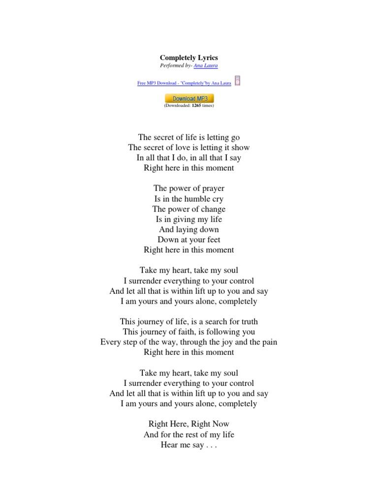 Completely Lyrics | Abrahamic Religions | Jesus
