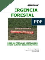 Greenpeace Emergencia Forestal