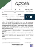 5K Volunteer Form