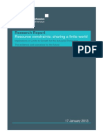 Resource Constraints - Sharing a Finite World, by Dr Aled Jones, Irma Allen, Nick Silver, Catherine Cameron, Candice Howarth & Ben Caldecott   Jan 2013,  Presented by