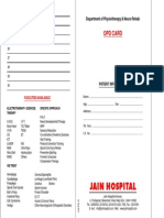 Physio Opd Card
