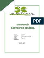 monografía cesárea