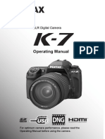 Pentax K-7 Operating Manual