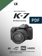Pentax K-7 Bruksanvisning