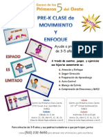 Movement & Mindfulness Flyer Mar-April 2014 Spanish