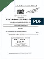 Matrimonial Property Bill 2013