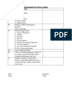 Format for Data Collection
