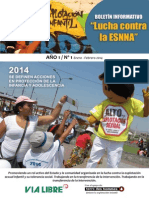 Boletín Lucha contra la ESNNA - VIA LIBRE - Enero - Febrero 2014