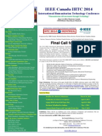 IEEE IHTC'2014 Call for Papers