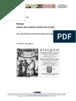 Relazione sul Dialogo sopra i due massimi sistemi del mondo (con particolare riferimento alla prima giornata) di Pietro Gavagnin