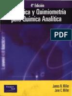 Estadística y Quimiometria para Química Analítica