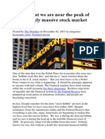 15 Signs That We Are Near the Peak of an Absolutely Massive Stock Market Bubble Dec 2013