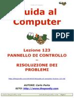 Guida al Computer - Lezione 123 - Pannello di Controllo - Risoluzione dei Problemi