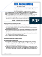 Chapter 1 - Joint Operation Agreement