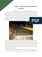 CONCEPTOS EN EL DISEÑO Y CONSTRUCCIÓN DE PAVIMENTOS DE HORMIGÓN