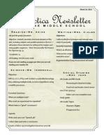 3-10-7th grade newsletter