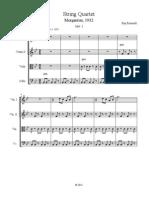 String Quartet #1, Morganton, 1932, Mvt 3