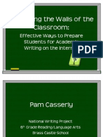 Expanding the Walls Powerpoint