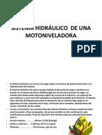 SISTEMA HIDRÁULICO  DE UNA MOTONIVELADORA