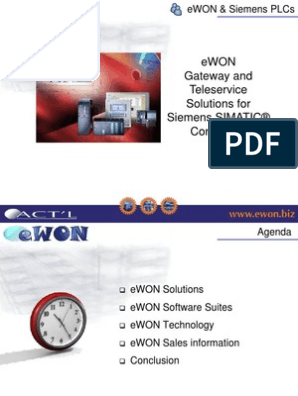 eWON-Siemens ppt | Virtual Private Network | File Transfer