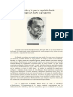 Miguel Hernández y la poesía española desde principios del siglo XX hasta la posguerra