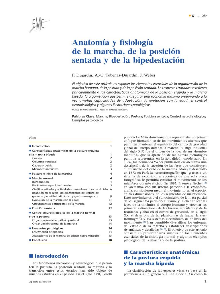 2009 Anatomía y fisiología de la marcha, de la posición sentada y de ...