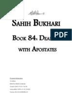 Sahih Bukhari - Book 84 - Dealing With Apostates