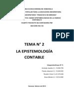 TEMA Nº 2. EPISTEMOLOGIA CONTABLE-GRUPO Nº5