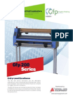 GFP  Wide Format Laminator 200  Series Brochure
