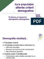 Demografie - structura populatiei